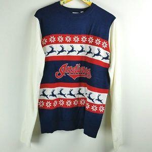 Cleveland Indians Baseball Ugly Sweater Sz L
